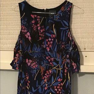 Anthropologie MAEVE Cold Shoulder Floral Dress, 16